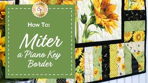 how to miter a piano key border with jennifer bosworth of shabby