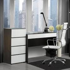 Modern Computer Desks Small White Corner Desk With Single Drawer For Laptop Computer