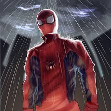 this is spider man wearing the suit tony stark developed after the