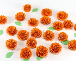Flowers For Crafts - small paper roses etsy