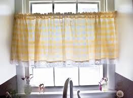 amusing modern yellow kitchen curtains blue gray best decoration