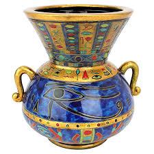 Design For Vase Painting Amazon Com Design Toscano Eye Of Horus Egyptian Vase Home U0026 Kitchen