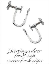 s clip on earrings earrings findings sterling silver s parts