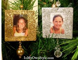 how to make a glittery tree ornament in my own style