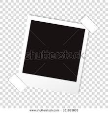 vector polaroid paper frame isolated on stock vector 611537561