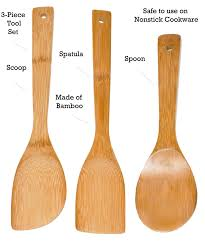 Bamboo Utensil Holder Amazon Com Imusa Usa Wpan 10011 Cookware Spoon Set 3 Piece