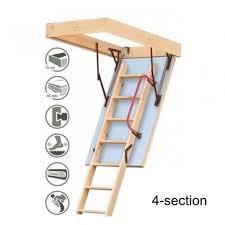 damage 01 extra 70cm x 90cm 4 section wooden loft ladder u0026 hatch