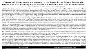 Lawsuit Gx Airbag Class Action Lawsuit Notice Clublexus Lexus Forum