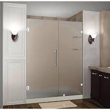 Frosted Glass Shower Door Frameless Aston Nautis Gs 66 In X 72 In Completely Frameless Hinged Shower