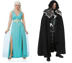 Game Thrones Halloween Costumes Khaleesi Halloween Couples Costumes Ideas Daenerys Jon Snow Game Thrones