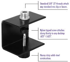 mic stand table attachment amazon com on stage tm03 table microphone cl musical instruments
