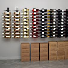 decor fantastic stainless and metal wall wine rack for vertical