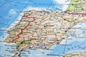 Atlas Mountains Map Map Of Spain With Details Of Main Cities Rivers And Mountains