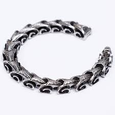 man stainless bracelet images Trustylan cool stainless steel dragon grain bracelets men new jpg
