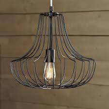 Wire A Chandelier Small Wire Pendant Black West Elm