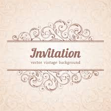 Free Invitations Cards Invitation Card Template With Curly Floral Background And
