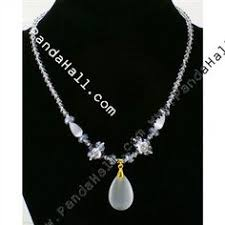 How To Make Magnetic Jewelry - bead necklace made one today in verious shades of blue similar to