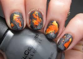 tutorial tuesday lava flow nail art video tutorial adventures