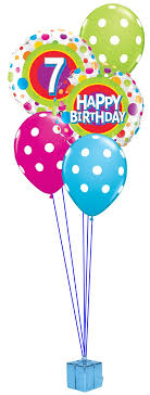 1st birthday balloon delivery 7th birthday balloon bouquet party fever