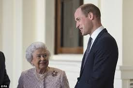 queen elizabeth ii beams after winning a a 98 voucher from the queen beams as she and prince william step out daily mail online