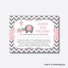 bring a book instead of a card baby shower instant elephant books for the baby bring a book