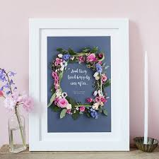 personalised floral frame wedding print love lila photography
