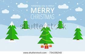 christmas greeting card christmas tree christmas stock vector