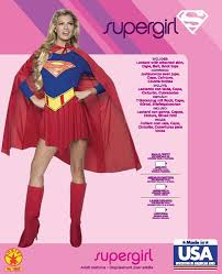 halloween costumes superwoman amazon com dc comics deluxe supergirl costume red blue medium