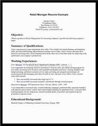 Retail Department Manager Resume Retail Job Resume Lukex Co