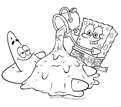 full size coloring pages of spongebob coloring pages