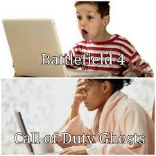 Call Of Duty Ghosts Meme - all sizes battlefield 4 vs call of duty ghosts flickr photo