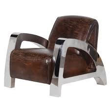 cool armchairs uk magnum brown leather steel armchair