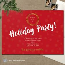 digital christmas party invitation or holiday party invite aftcra