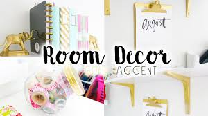 Pink And Gold Bedroom Decor by Diy Room Decor U0026 Organization Gold Accent Youtube