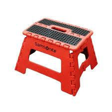 mini folding step stool samsonite in red black free shipping
