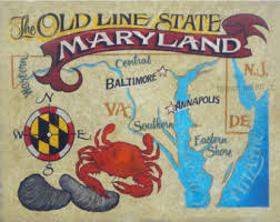 map of maryland to print maryland map sign etsy