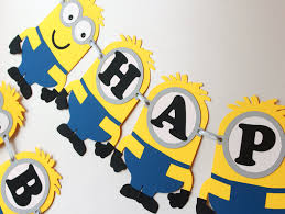 Minion birthday decorations inspired Despicable Me Minions