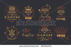 jewelry logo set label template jewelry stock vector 662841574