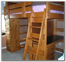 Wooden Bunk Bed With Desk Wood Bunk Beds With Desk And Dresser Beds Home Furniture