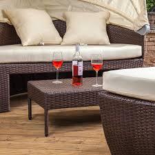 bali style coffee table coffee table bali polyrattan island sofa day bed coffee table
