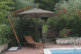 Wood Patio Umbrellas Cheerful Polyester Offset Patio Umbrella By Trademark