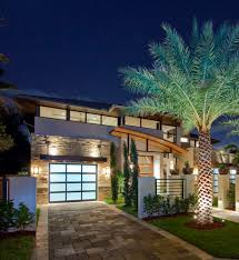 palm tree home decor palm tree home decor exterior contemporary with curved roof line