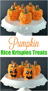 easy pumpkin rice krispies treats recipe the suburban mom