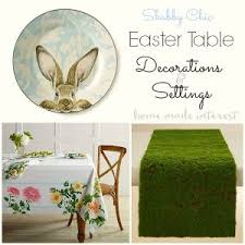 shabby chic rabbit ring holder images Easter table decorations and settings home made interest jpg