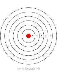 printable shooting targets pdf targets print your own bullseye shooting targets