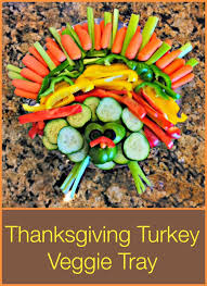 thanksgiving ideas turkey veggie tray