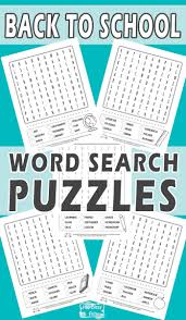 back to word search puzzles itsy bitsy fun