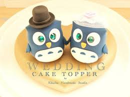 owl wedding cake topper wedding cake topper owls with sweet heart base a photo on
