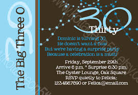 colors 30th birthday invitation wording