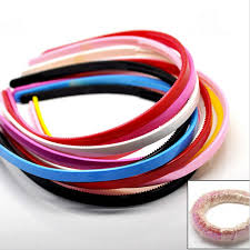 plastic headbands 3pcs simple design teeth candy color headbands plastic hairbands